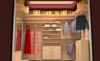 Вариант гардеробной комнаты из кладовой