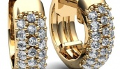Золотые серьги, как загадочное украшение